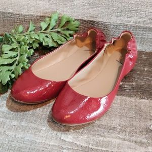 Red Mossimo patent ballet flats size 10